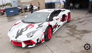 Video: Creating Chris Brown's Camo'd Lamborghini Aventador ...