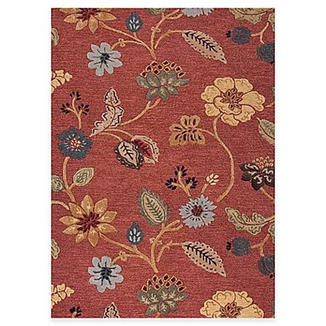 jaipur blue collection floral rug  red multi bed bath