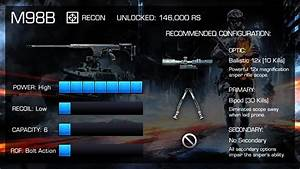 M98b   Battlefield 3 Weapon Guide  Sniping Gameplay  U0026 Gun