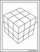 Cube Coloring Rubiks Rubics Template Shape Cubes Square Blocks Pdf Squares Colorwithfuzzy sketch template