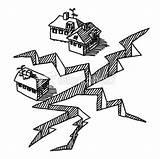 Earthquake Drawing Crack Drawings Building Drawn Setting Draw Dibujos Cartoon Disasters Terremotos Sketch Sketches Buildings Huge Dibujo Terremoto Resultado Imagen sketch template