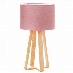 Lampe À Poser Scandinave : lampe poser bois scandinave 47cm rose ~ Melissatoandfro.com Idées de Décoration