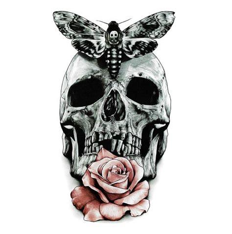 inkotattoo temporary tattoo skull rose butterfly skull inkotattoo