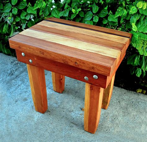 multi coloured table l multi colored wood table natural wood side table