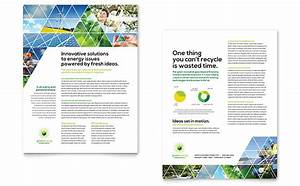 green energy consultant datasheet template design With sales slick template