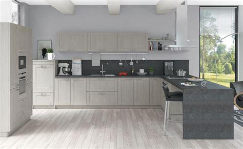 cuisines teisseire cuisine miramar décor à frêne équipée et design par