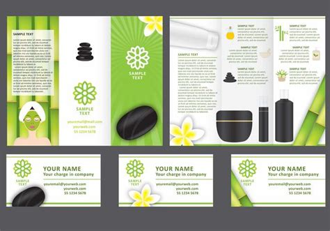Free Spa Brochure Templates Spa Tri Fold Brochure Vector Template Free