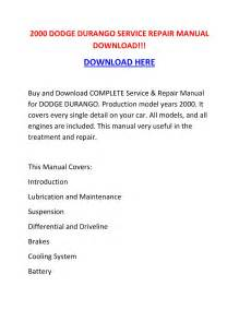 2000 Dodge Durango Turn Signal Wiring Diagram : 2000 dodge durango service repair manual download by ~ A.2002-acura-tl-radio.info Haus und Dekorationen