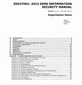Iso 27001 Templates  Get Ahead In Creating Your