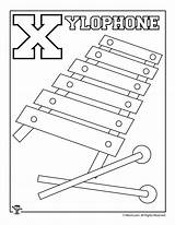 Xylophone Coloring Pages Printable Colorier Woojr sketch template
