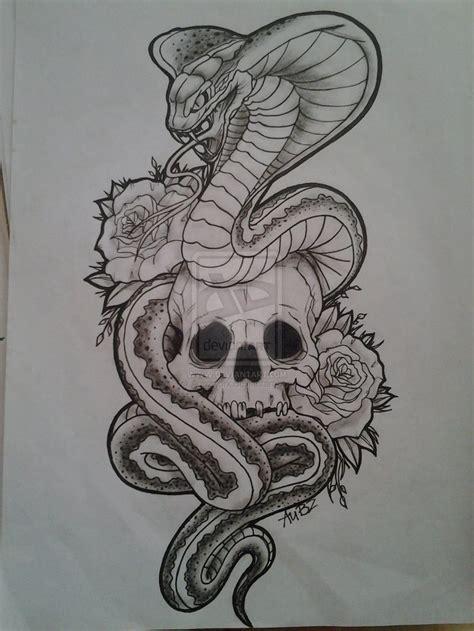 Snake & Skull  Tattoo Idea$  Pinterest  Snake, Tattoo