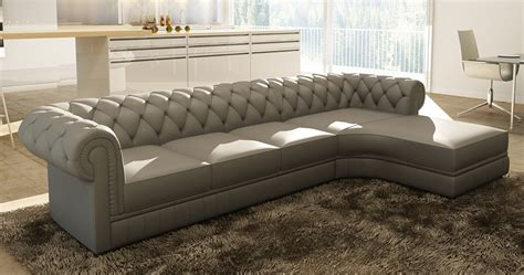 canape angle cuir gris deco in canape d angle gris capitonne chesterfield
