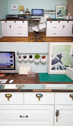 cut ikea kitchen cabinets diy built in desk using kitchen cabinets after cutting 8548