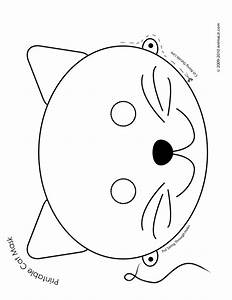 Printable animal masks cat mask cat mask coloring page for Dog mask template for kids