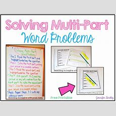 Solving Multipart Word Problems {freebie Printable Chart}  Teaching To Inspire With Jennifer