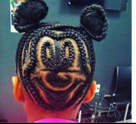 mickey mouse braided buns  crazy awesome