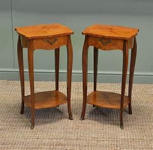 Pair, Of, Vintage, Kingwood, Antique, Side, Tables