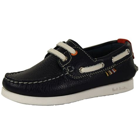 Boat Shoes Navy by Paul Smith Junior Paul Smith Junior Navy Boys Boat Shoes