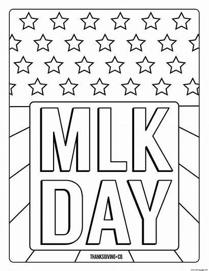 Luther Coloring Mlk Martin King Jr Sheets