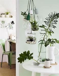 Acheter Terrarium Plante : diy d co fabriquer une suspension lumineuse avec des terrariums marie claire ~ Teatrodelosmanantiales.com Idées de Décoration
