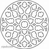 Quilt Coloring Medallion Becomes Copy Allie sketch template