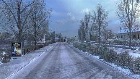 frosty winter weather mod v 6 1 ets 2 mods