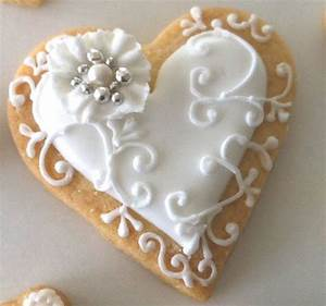 gorgeous heart cookie timelesstreasure amazing bridal With decorated sugar cookies for weddings