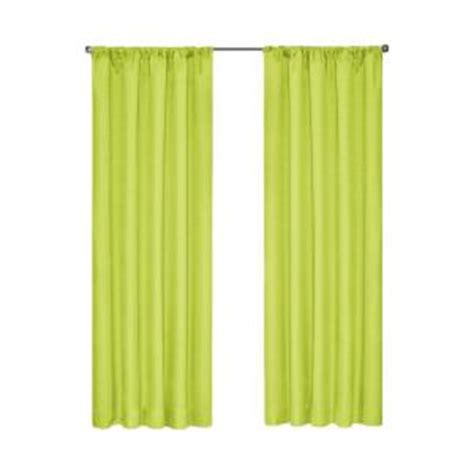 eclipse kendall blackout lime curtain panel 84 in length