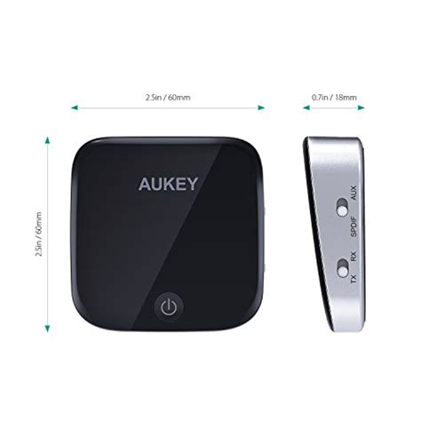 aukey bluetooth transmitter and receiver with s pdif 2 in 1 wireless audio adapter with aptx