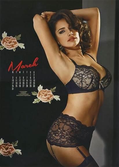 Kelly Brook Calendar Lingerie March Comment Wet