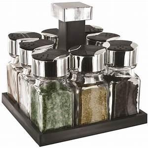 Carrousel à épices : carrousel pices tournant 8 pots en verre tr s design ~ Teatrodelosmanantiales.com Idées de Décoration