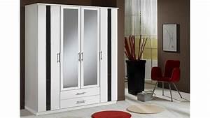 Kleiderschrank Schwarz Weiß : hit kleiderschrank 180 cm wei schwarz hochglanz ~ Orissabook.com Haus und Dekorationen