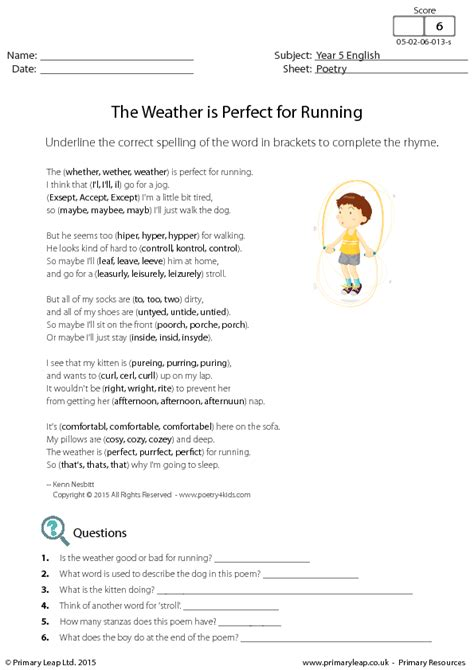 comprehension  weather  perfect  running