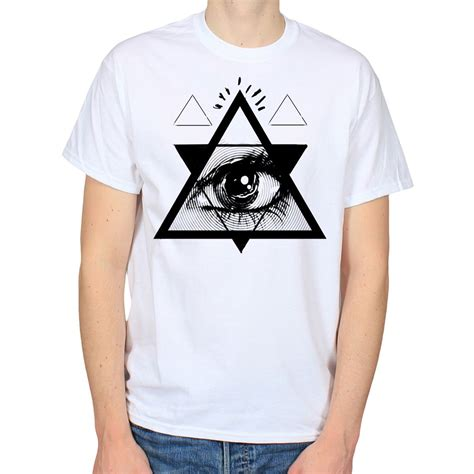 illuminati shirt psychedelic eye triangle illuminati nwo pyramid mens white