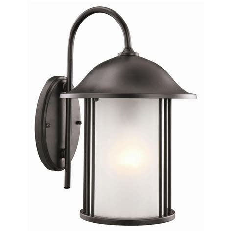 design house hannover black outdoor wall mount downlight