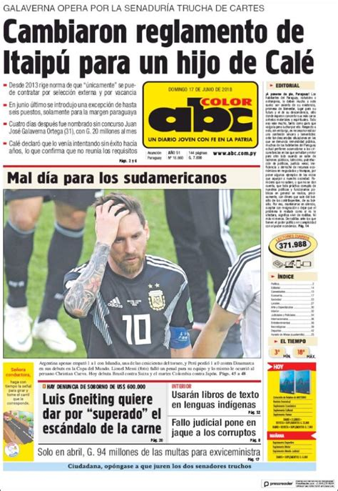abc color py newspaper abc color paraguay newspapers in paraguay