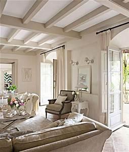 poutres apparentes peintes un art de vivre With peindre des poutres en bois 6 plafond entre solives maison poyaudine
