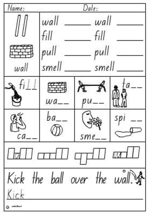 Activity Sheet Double Consonant Ll, English Skills Online, Interactive Activity Lessons