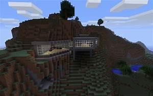 Minecraft Building Ideas Modern House Built Into The