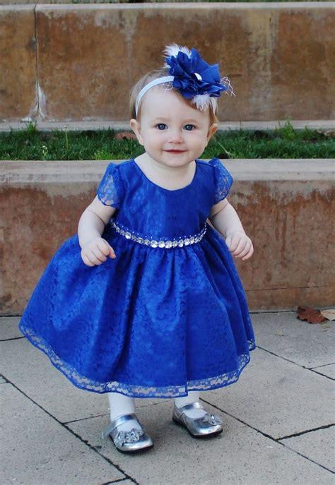 Baby Girls' Royal Blue Gems Dress  Lil Neti Boutique