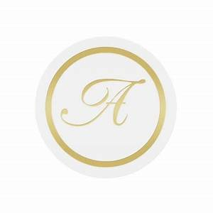 Gold monogram stickers envelope seals pack of 25 for Monogram letter seals