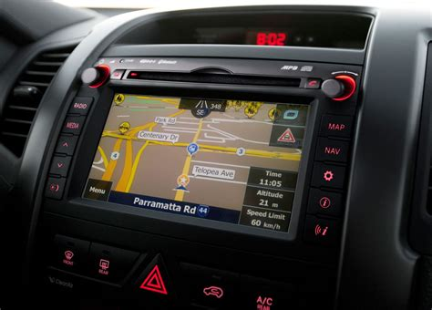 kia australia adds satellite navigation  optima sorento