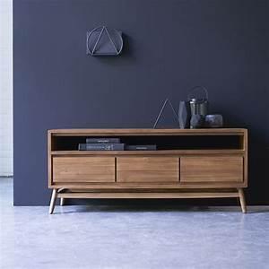 Meuble tv en teck Vente meubles 130cm scandinave vintage sur Tikamoon