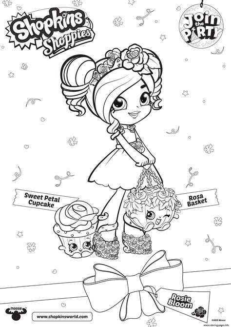 shopkins shoppies sweet petal cupcake rosie bloom
