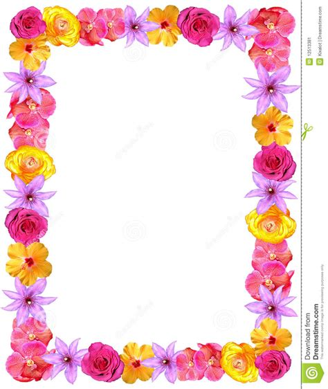 flower frame  valentines moms day stock image