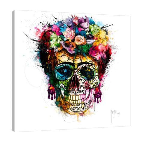 frida skull  patrice murciano gallery wrapped canvas