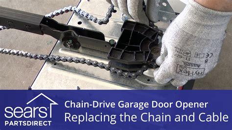 garage door chain replacement how to put a garage door chain back on track wageuzi