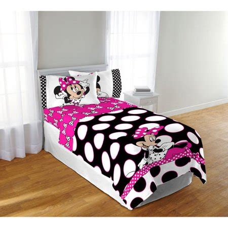 minnie mouse comforter set disney minnie mouse dots are the new black