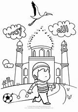 Islamic Coloring Muslim Ramadan Worksheets Studies Islam Activities Dots Joining Dot Homeschooling Crafts Printable Sheets Eid Printables Drawing Connect Coloriage sketch template
