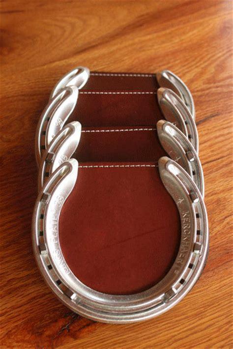 horseshoe coasters  hilltop leather shop kentucky
